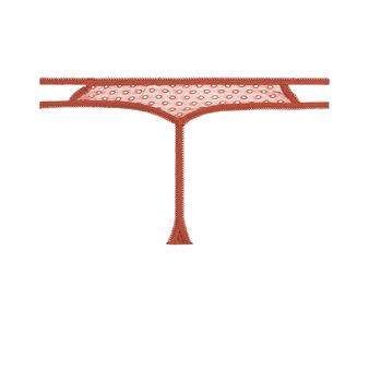 String rouge brique poliz red.