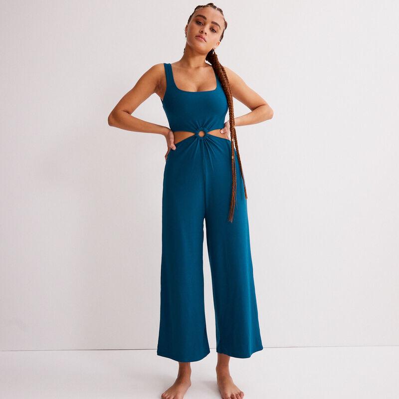 jumpsuit met ring - blauw;