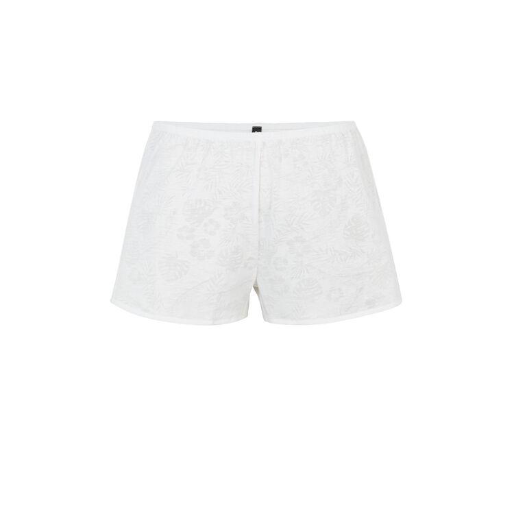Short blanc tropaliz;