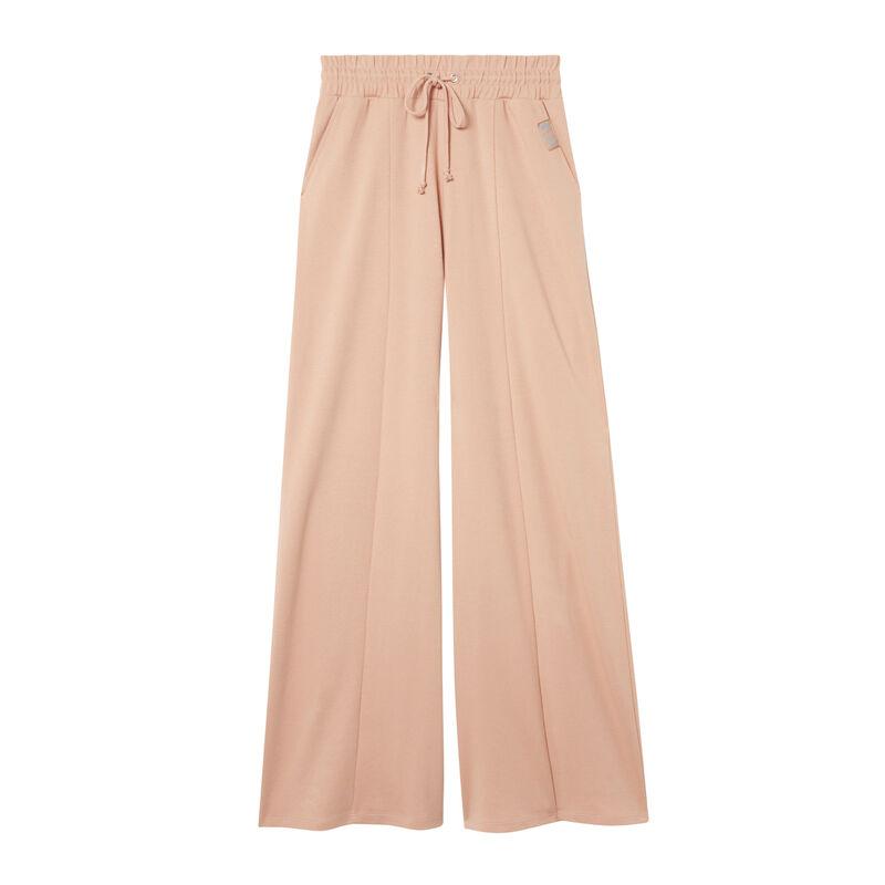 grote broek met geplooide taille en plooien - nude;