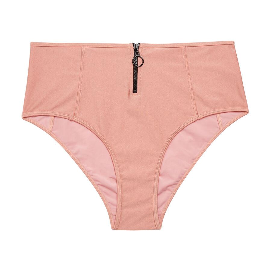Bas de maillot de bain  culotte haute rose clair flashiz;