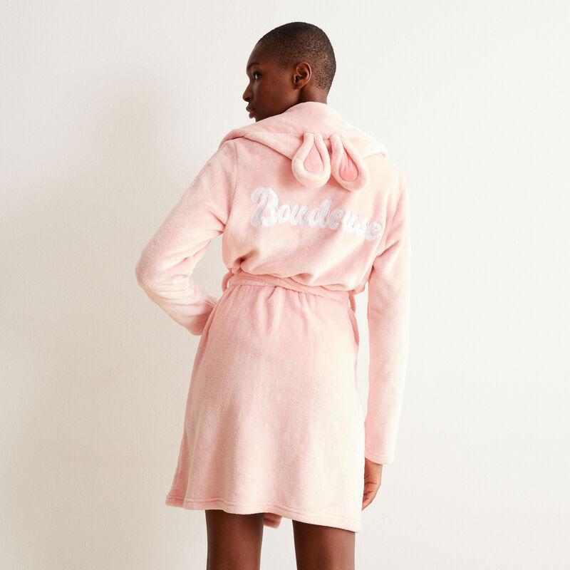 peignoir polaire lapinou boudeuse - rose;