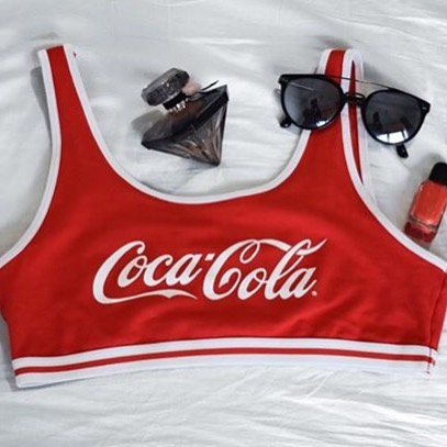 Shorty rouge cocacoliz